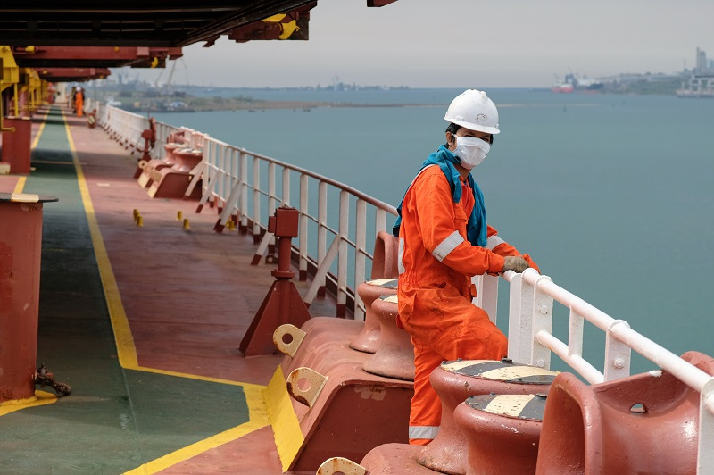 Seafarer during the COVID-19 pandemic. Credit: Shutterstock