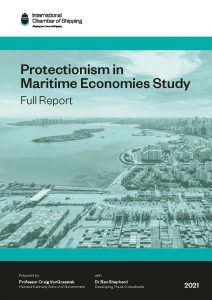 Cover of the protectionism in maritime economies study (full report)